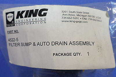 King Filter Sump Auto Drain Assembly 4522-5 Lot Of 5 Kjs