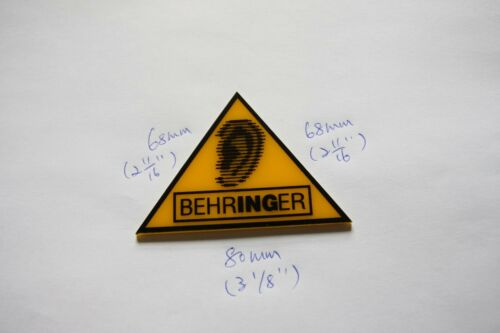 For Replacement BEHRINGER Plastic Logo Badge