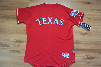 TEXAS RANGERS NEW MLB MAJESTIC AUTHENTIC COOL BASE GAME JERS