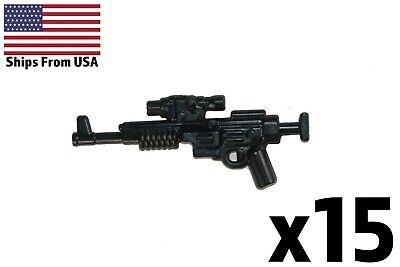 LEGO® Star Wars guns x2 Small BLASTER Clone Commander Minifig Weapon DC-17 Black