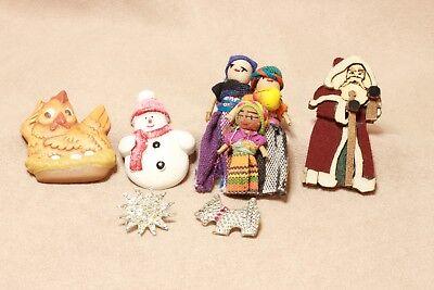 Santa Claus chicken snowman snowflake dolls and Scottie Dog Vintage & non-VTG](Chicken Dog Costume)