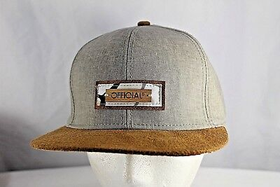 brand new c9c88 f865f Official Gray Tan Suede Bill Baseball Hat Snapback