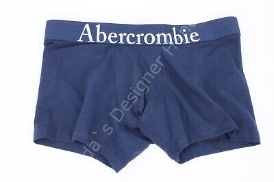 MENS ABERCROMBIE & FITCH MOOSE NAVY BLUE BOXER BRIEF SIZE L (33/34) NWT