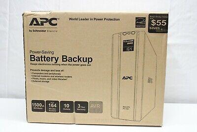 APC 1500VA UPS Battery Backup & Surge Protector w/ AVR Uninterruptable Power Sup