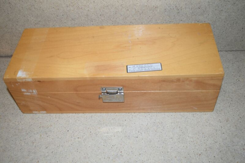 """HUGHES AIRCRAFT PRIMARY STANDARDS H446655 WOODEN BOX 12.5""""x4.75""""x3.5"""""""