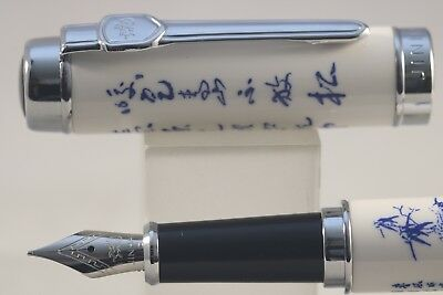 Jinhao No. 950 Series Fountain Pen, Blue & White Porcelain Landscape Design