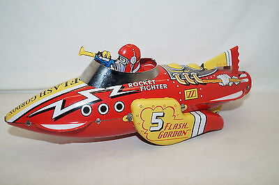 SCHYLLING FLASH GORDON Sparkling Rocket Space Toy Rocket Fighter ca 31 cm