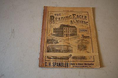 The Reading Eagle Almanac 1908 Pennsylvania Graphic Engraving Paper Almanac