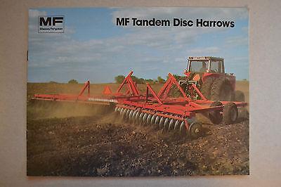 Massey Ferguson Brochure -  MF Tandem Disc Harrows 520 620 720 820   -   1981