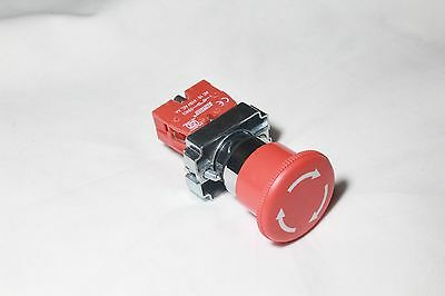 New 1x Heavy Duty 22mm Red Mushroom Emergency Stop 1nc Push-button Switch