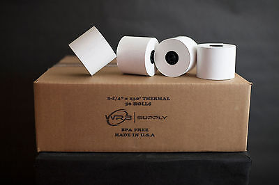 "2 1/4"" x 230' THERMAL CASH REGISTER POS RECEIPT PAPER 50 ROLLS / CASE"