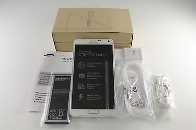 New Samsung Galaxy Note 4 SM-N910T Frost White 32GB 16MP T-Mobile Unlocked GSM