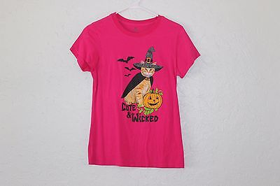 Women's Pink Halloween Cute & Wicked Graphic T-Shirt Size - Cute Halloween Graphics