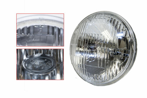 "Late 1950-1970's Ford 5 3/4"" High/Low Beam Round Halogen Sealed Beam Headlamp"