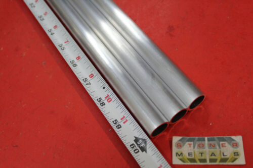 """3 Pieces 3/4"""" OD x .065"""" Wall 6061 T6 ALUMINUM Round Tube 60"""" long Seamless .623"""