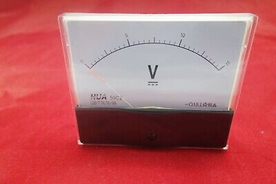 Dc 0-15v Analog Voltmeter Analogue Voltage Panel Meter 100x120mm 59c2