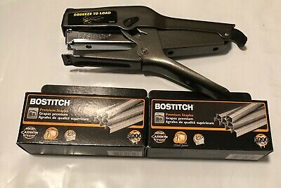 Bostitch B8 Heavy Duty Plier Stapler W 2 Boxes Of 38 Staples 2-45 Sheets