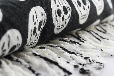 Skull scarf Halloween Gift Warm Winter Scarves Soft Long Wrap Skeleton Shawl](Halloween Scarf)