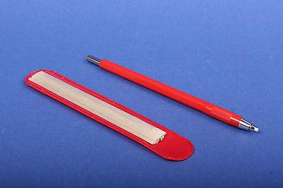 Set 1x Glasfaserradierer 2 mm rot + 12 Glasfaser-Ersatzpinsel Polierstift