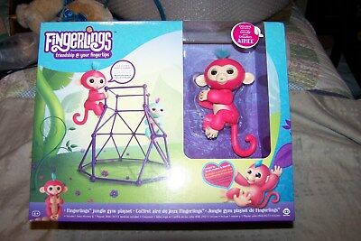New Authentic Fingerlings  Jungle Gym Playset With Exclusive Baby Monkey Aimee