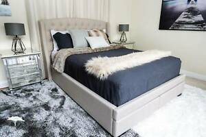 Kensington Upholstered Bed Frame (Queen/King) – NEW