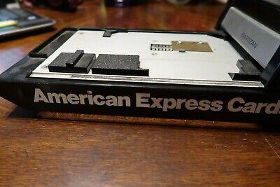 Vintage American Express Cards Retail Bartizan Credit Card Imprinter Nice Shape