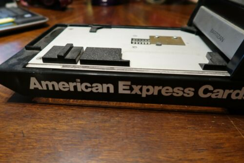 VINTAGE AMERICAN EXPRESS CARDS Retail Bartizan Credit Card Imprinter NICE SHAPE