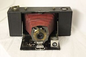 1909 Kodak Eastman, No. 2 A Folding Pocket Brownie Camera Model A working!