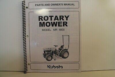 Kubota Mr 4800 Mower Deck Operators Parts Manual - 70721-71114