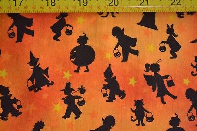 Halloween Themed Treats (By 1/2 Yd, Halloween Theme on Orange Quilting, Marcus/Tricks & Treats/3461)