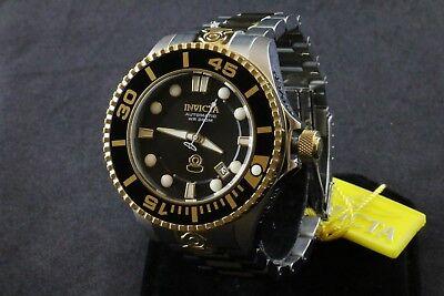 Invicta Grand Diver Automatic Black Dial Two-tone Men's Watch 19803