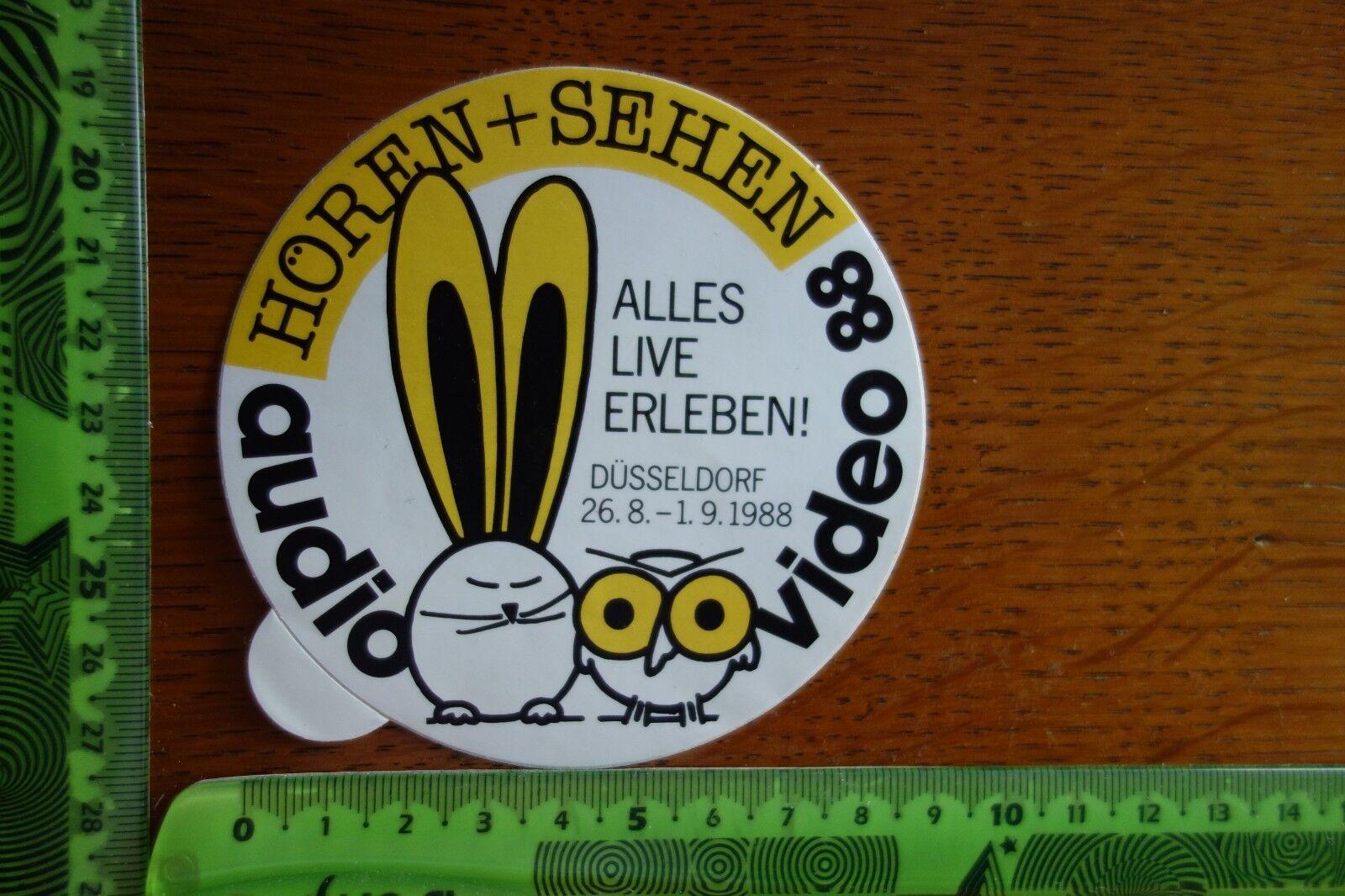 Alter Aufkleber Foto Video Hören + Sehen Audio Video 88 Düsseldorf