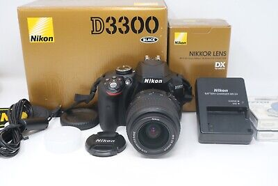 Nikon D3300 24.2MP DSLR Camera with 18-55mm Lens, Shutter Count 206, Exc. Cond.