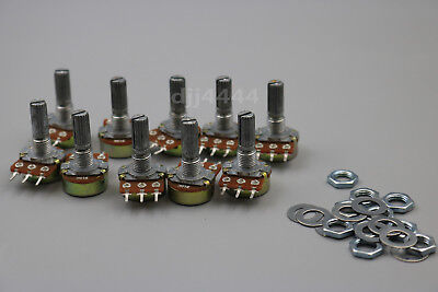 - 10Pcs B10K 10K Ohm Linear Taper MINI Potentiometer Pot 20mm 3Pin