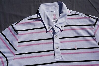 IZOD PerformX Casual Polo Golf Shirt. Breast Cancer Awareness, Men's M.