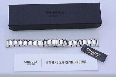 SHINOLA Watch Bracelet 16mm Polished Stainless/Deployment Clasp Genuine -