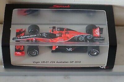 SPARK 1/43 Virgin VR-01 N°24 Australian GP 2010 S3001 TIMO Clock