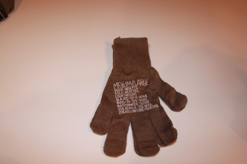 Military Surplus,Army,Lightweight Cold Weather Glove Inserts, Medium, Large