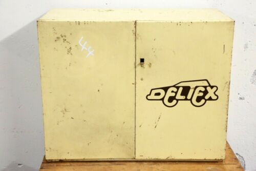 Vintage Deltex Service Parts Metal Cabinet garage shop organizer gas station