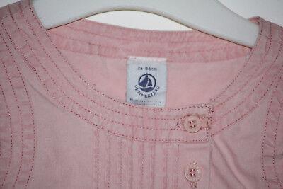 Kleid von Petit Bateau - NEU - Gr. 86/24 Monate - ärmelos & rosafarben - Sommer