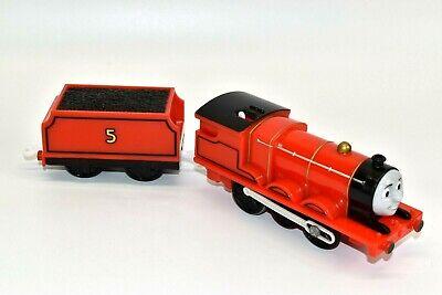 Thomas & Friends James Trackmaster Motorized Train Engine w/ Tender 2009 Mattel