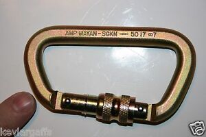 CARABINER-STEEL-Screw-Lock-50KN-or-11-200Lb-rated-Gold