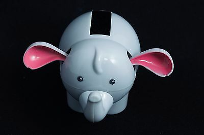 Grey Elephant Solar Powered Suncatcher Bobblehead Plastic Wobble Toy
