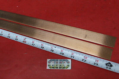 2 Pieces 18 X 1 C110 Copper Bar 24 Long Solid Flat Mill Bus Bar Stock H02