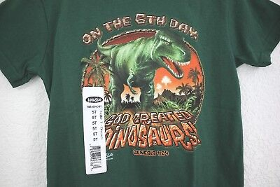 NEW Kerusso on the 6th day, God created Dinosaurs! Toddler's T-Shirt Size 5T