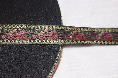 Black Ribbon Trim ($1 yard black pink ombre blue olive gold jacquard satin woven ribbon Trim)