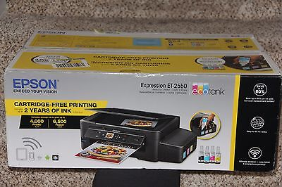 NEW Epson Expression ET-2550 EcoTank Wireless Color All-in-One Supertank Printer