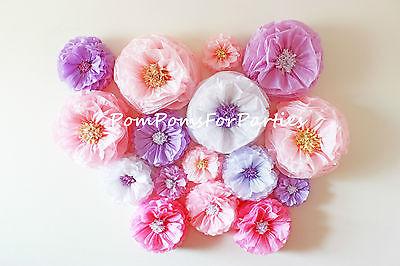 1 Medium paper flower.Giant bloom.Wedding centerpiece.Baby shower decorations.