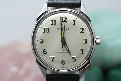 Vintage Benrus 17j Hand Wind Series # 3051 Men's Wrist Watch Running  Hand Wind Watch Series
