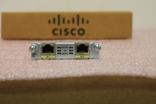 Cisco HWIC-2FE High Speed WAN Interface Card 1YearWarranty 2+Available